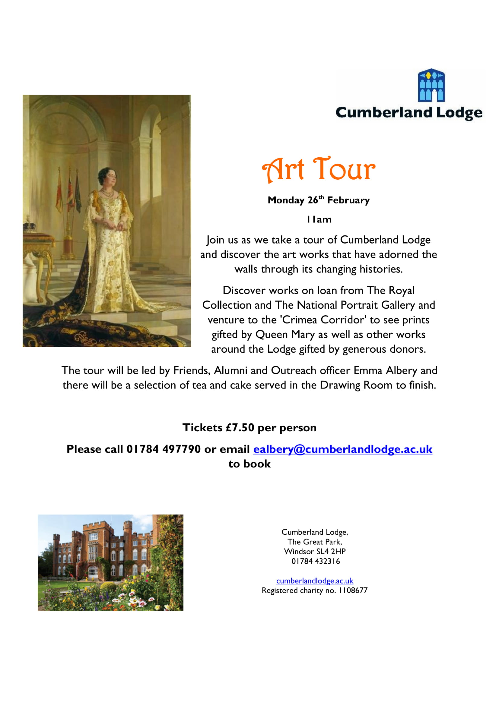 Cumberland Lodge Art Tour